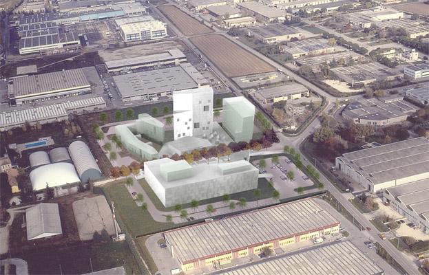 Proposta di master plan per l'area Rosselli Villorba (Treviso) – 2004-2005, Cino Zucchi Architetti Modellazione
