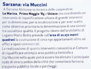 La pagina della brochure del Bilancio 2007 di Abitcoop Liguria