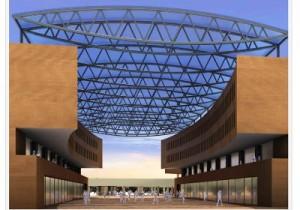 L'edificio ideato da Botta in sostituzione del Mercato: due ali da 4 piani ciascuna, che gli abitanti di Piazza Terzi non vogliono
