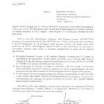 Lettera del Comune di Accettazione delle Prescrizioni