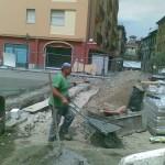 Le antiche mura emerse in via Landinelli