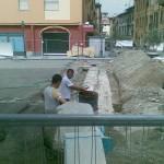 via Landinelli: le antiche mura emerse dagli scavi