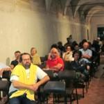Uno scorcio dell'assemblea al Chiostro di San Francesco