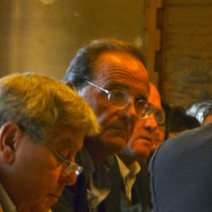 Corrado Bernardini nel corso dell'assemblea del Parco Magra