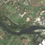 Il Fiume Magra in zona Battifollo (cliccare per ingrandire)